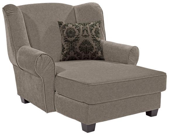 Fotelja Living - svijetlo smeđa, MODERN, drvo/tekstil (120/98/138cm)