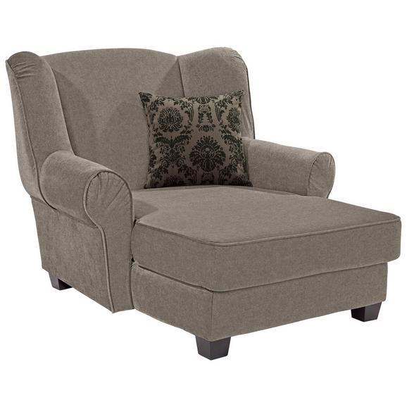 Fotelja Living - svijetlo smeđa, Romantik / Landhaus, drvo/tekstil (120/98/138cm)