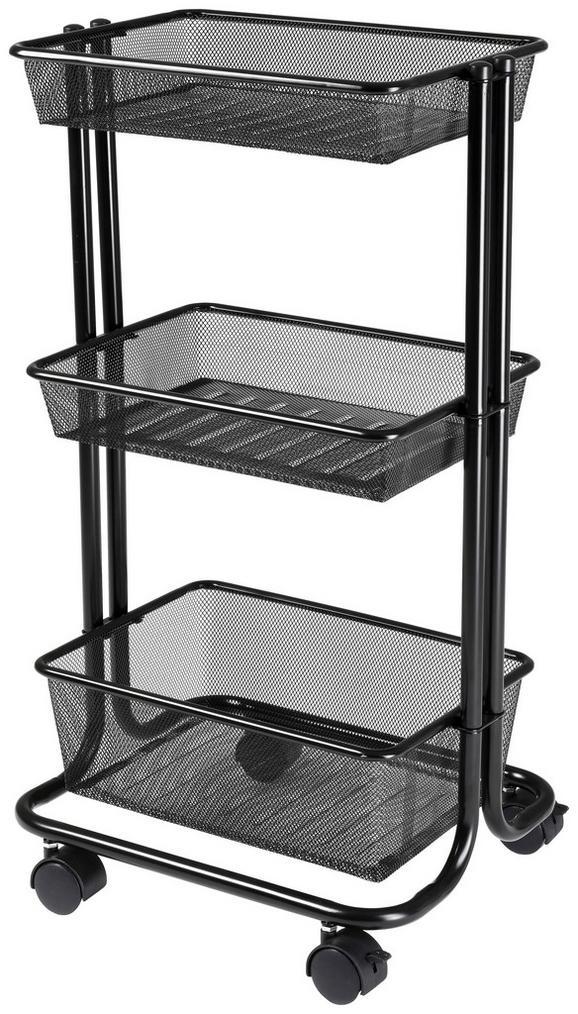 Večnamenski Voziček Lisi - črna, Moderno, kovina (43/78,5/33,5cm)