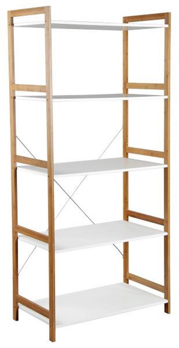 Regal in Weiß/Naturfarben - Naturfarben/Weiß, MODERN, Holz/Holzwerkstoff (70/148/35cm) - Mömax modern living