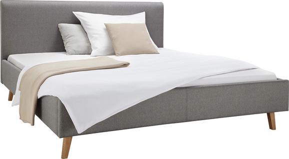 Polsterbett Taupe 160x200cm - Taupe/Eichefarben, MODERN, Textil (213/175/105cm) - ZANDIARA