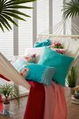 Zierkissen Waikiki, ca. 30x50cm - Türkis, Textil (30/50cm) - MÖMAX modern living