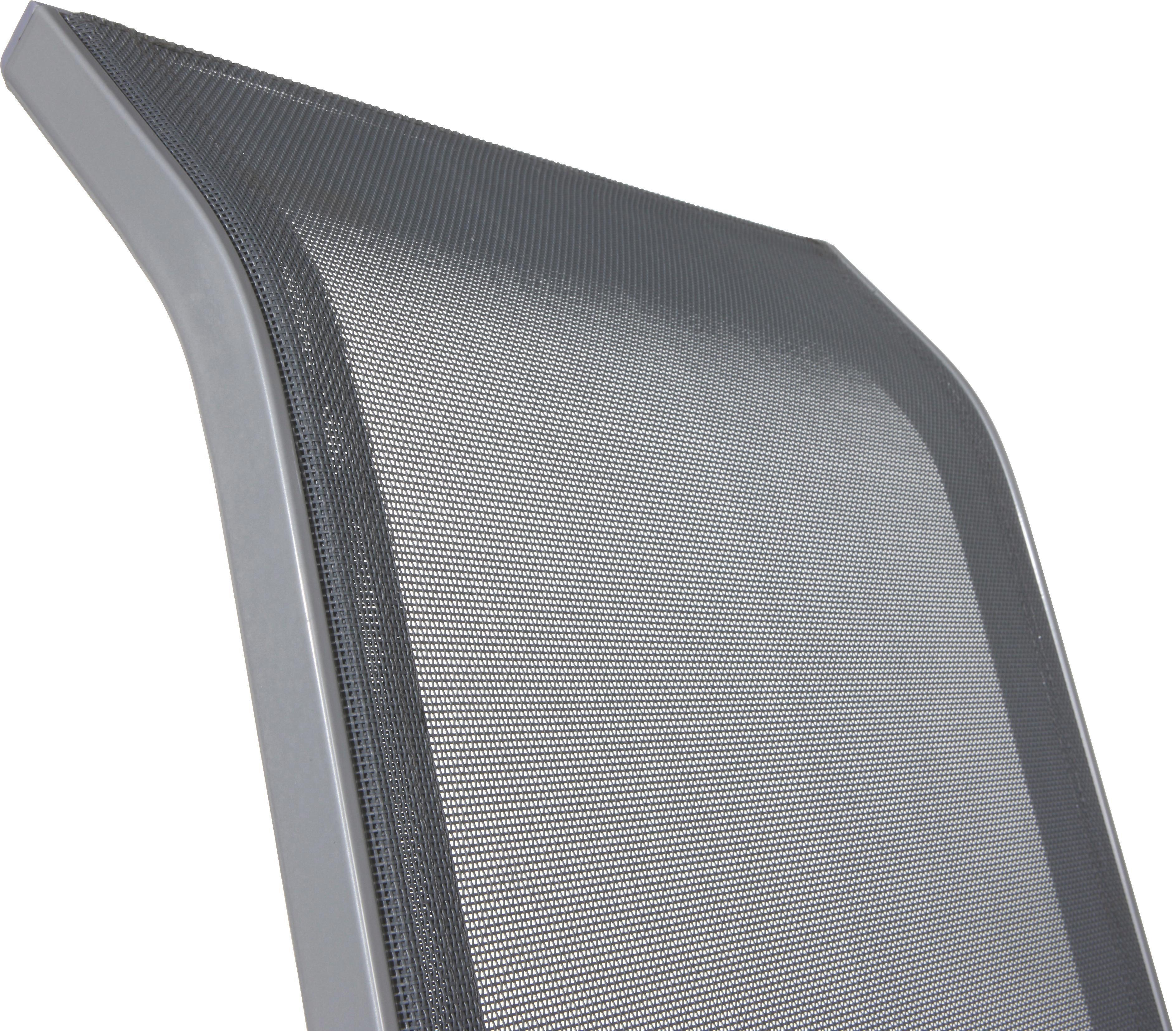 Stapelsessel Stitch in Anthrazit - Anthrazit/Alufarben, Kunststoff/Textil (54/96/76cm) - MÖMAX modern living