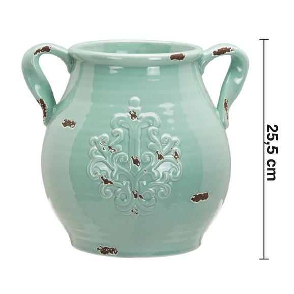 Dekokrug Nephele aus Dolomit - Grün, MODERN, Keramik (28,5/24,5/25,5cm) - Bessagi Home