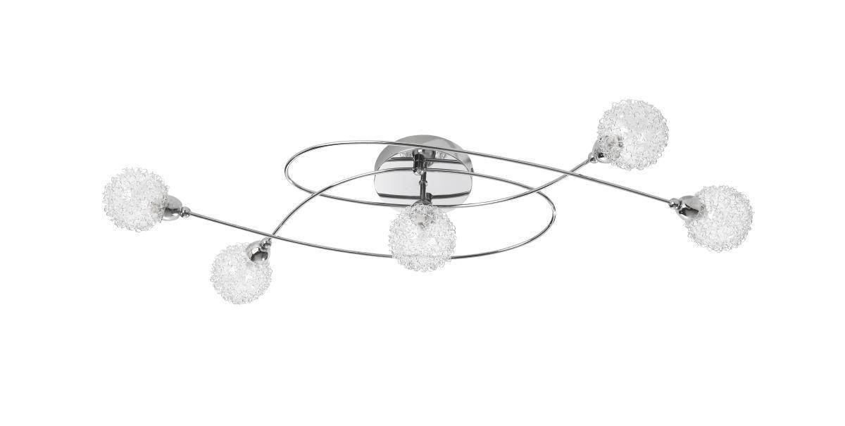 Deckenleuchte Mia aus Metall - Chromfarben, MODERN, Glas/Metall (76/20/15cm) - MÖMAX modern living