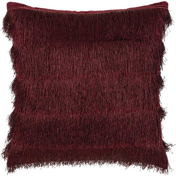 Zierkissen Frances in Bordeaux - Bordeaux, Trend, Textil (40/40cm) - Premium Living