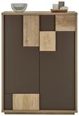 Schuhschrank Braun/Eichefarben - Eichefarben/Braun, MODERN, Holzwerkstoff (85,6/115/42cm) - Mömax modern living