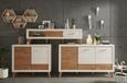 Lowboard Weiß/Eschefarben - Chromfarben/Eichefarben, MODERN, Holz/Metall (163/46/42cm) - MÖMAX modern living