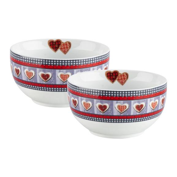 Müslischale Heidi 2er Set - Multicolor, Keramik (14/7,5cm) - Bessagi Home