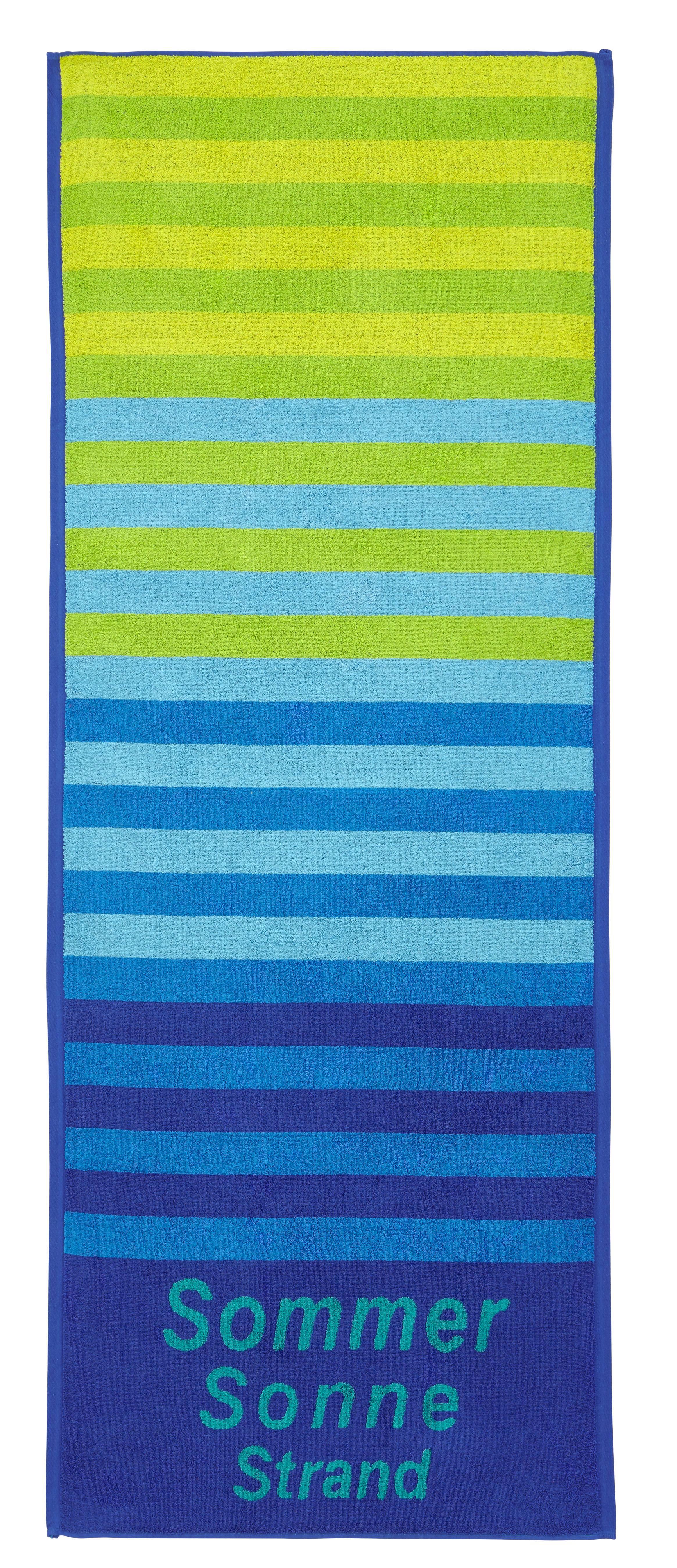 Strandtuch Dyckhoff 70x180cm - Blau, KONVENTIONELL, Textil (70/180cm) - DYCKHOFF