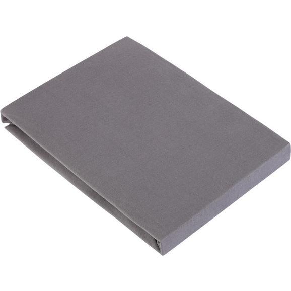 Spannbetttuch Basic in Grau ca. 100x200cm - Grau, Textil (100/200cm) - Mömax modern living