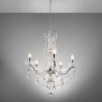 Pendelleuchte Angelika 5-flammig - Chromfarben/Klar, Glas/Metall (53/53/124cm) - Premium Living