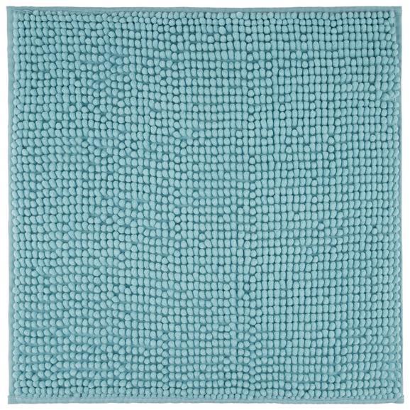 Badteppich Nelly Türkis 50x50cm - Türkis, Textil (50/50/cm) - Mömax modern living