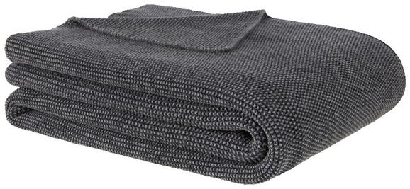 Tagesdecke Aksel Anthrazit 125x150cm - Anthrazit, MODERN, Textil (125/150cm) - Premium Living