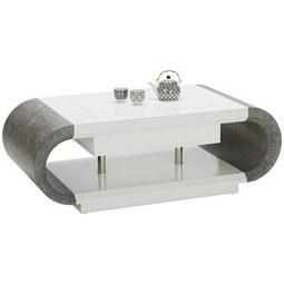Couchtisch Grau/Weiß - Weiß/Grau, MODERN, Holzwerkstoff/Metall (120/42-67,5/60cm) - Modern Living