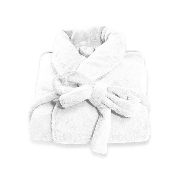 Halat De Baie Supersoft - alb, textil (S-XLnull) - Modern Living