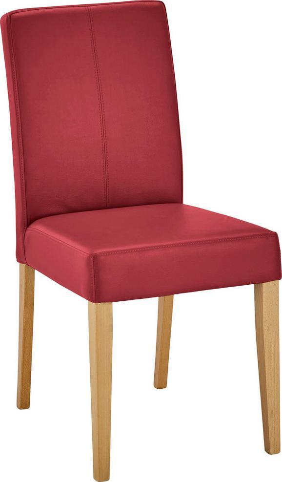Stuhl in Rot aus Buche - Buchefarben/Dunkelrot, MODERN, Holz/Textil (44,5/93/59cm) - MODERN LIVING