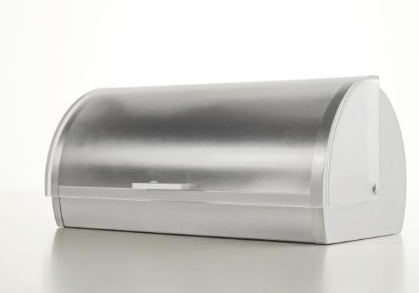 Kenyértartó Gabriella - tiszta/nemesacél színű, műanyag/fém (18,5/28/39,2cm) - MÖMAX modern living