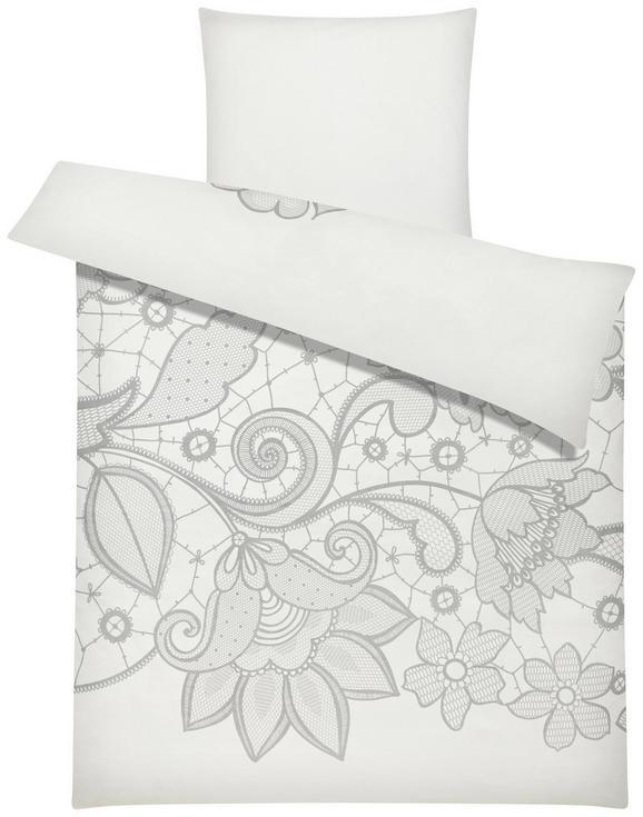 Bettwäsche Lilette in Weiß ca. 135x200cm - Weiß, ROMANTIK / LANDHAUS, Textil (135/200cm) - Mömax modern living