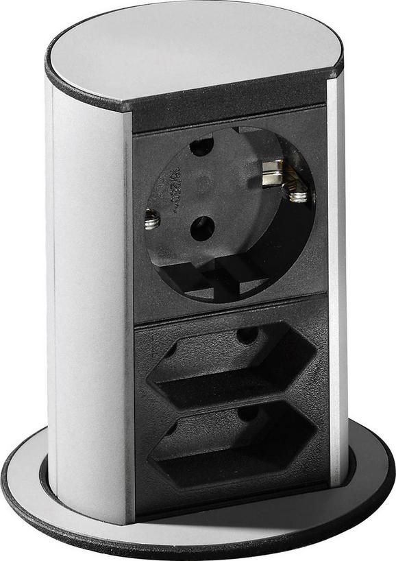 Element Z Vtičnicami Elevator - nerjaveče jeklo, kovina (8,6/13,5cm)