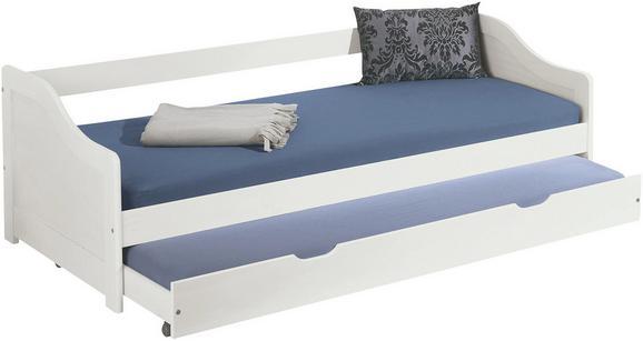 Kinder-/Juniorbett in Weiß mit Lattenrost - Weiß, Holz (209/66/97cm) - ZANDIARA