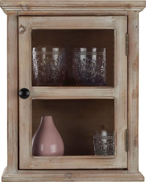 Hängevitrine in Naturfarben - Klar/Schwarz, LIFESTYLE, Glas/Holz (33/40,6/17,8cm) - MÖMAX modern living