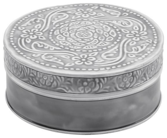 Dekorativna Škatla Lila - črna/siva, Romantika, kovina (16,5/7cm) - Mömax modern living