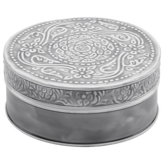 Dekorativna Škatla Lila - siva/črna, Romantika, kovina (16,5/7cm) - Mömax modern living