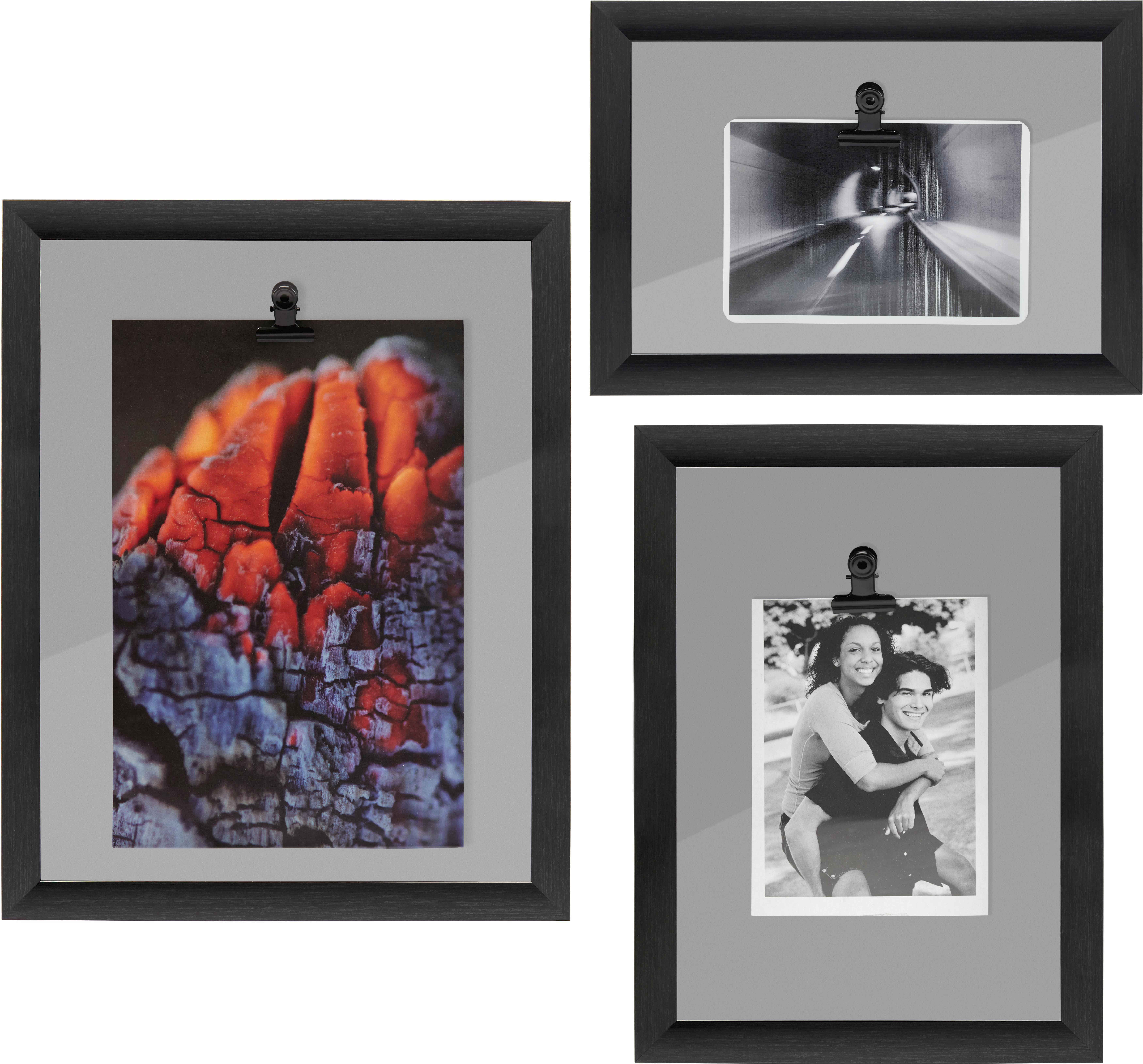 Bilderrahmen Less, ca. 26,49x18,8x3,61cm - Schwarz, MODERN, Kunststoff (26,49/18,80/3,61cm)