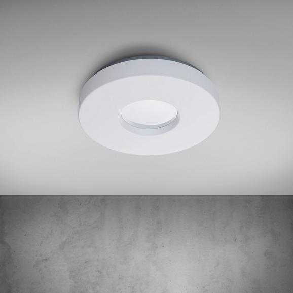 Deckenleuchte Mira mit Led - Chromfarben/Weiß, MODERN, Kunststoff/Metall (30/30/6cm) - Mömax modern living