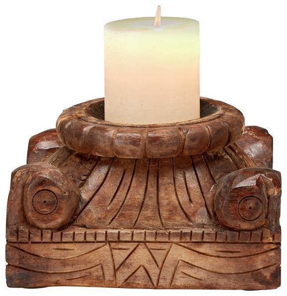 Kerzenhalter Naturfarben - Naturfarben, Holz (27/15/24cm)