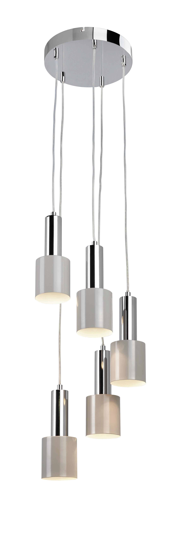 Hängeleuchte Illya - Grau, MODERN, Metall (32/130cm) - MÖMAX modern living