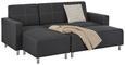 Sedežna Garnitura Victor - temno siva/krom, Konvencionalno, kovina/les (205/83/140cm) - Modern Living