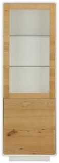 Vitrine Naturfarben/Weiß - Naturfarben/Weiß, MODERN, Glas/Holz (63/186/40cm) - Modern Living