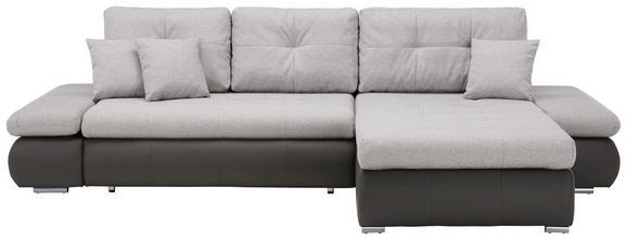 Sedežna Garnitura Enrico - črna/siva, Konvencionalno, kovina/umetna masa (303/185cm) - Mömax modern living