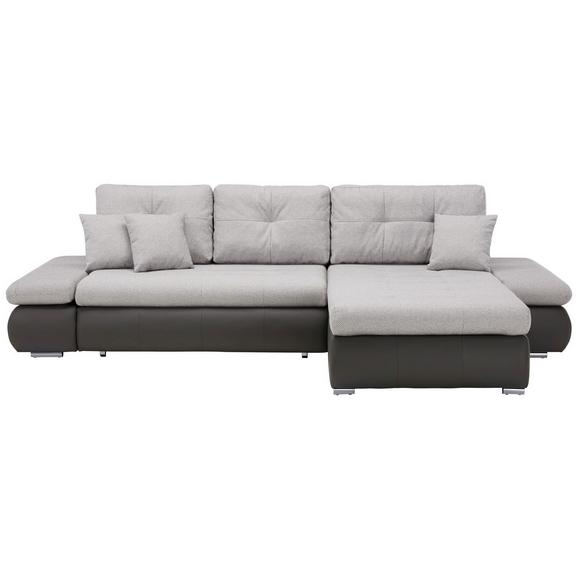 Sjedeća Garnitura Enrico - bijela/siva, Konventionell, tekstil/metal (303/185cm) - Mömax modern living