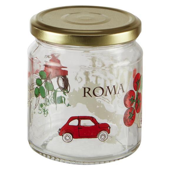 Einmachglas Sauce mit buntem Design - Transparent/Rot, Glas (7,7/9cm) - Mömax modern living