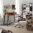 Schreibtisch in Akazienfarben massiv - Akaziefarben, KONVENTIONELL, Holz/Metall (130/95cm) - Premium Living