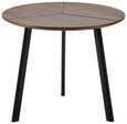 Couchtisch Henrik ca.60x51cm - Walnussfarben/Schwarz, Basics, Holz/Metall (60/51cm) - Modern Living