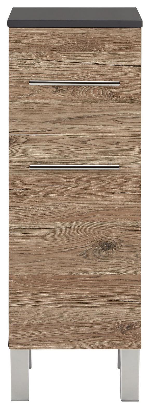 Spodnja Omarica Garziello - hrast/krom, Moderno, kovina/leseni material (31/86/32cm) - Mömax modern living