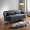 Sofa in Grau 'Jannike' - Grau, MODERN, Holz/Textil (207/84/80cm) - Bessagi Home