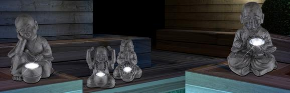 Solarleuchte Buddha In Versch. Designs - Klar, Kunststoff (12/12/16cm)