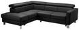Sedežna Garnitura Manhatten - črna, Trendi, kovina/umetna masa (207/75/240cm) - Premium Living