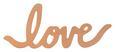 Stenska Dekoracija Lovelyn - baker, kovina (15,2/6,3/1,4cm)