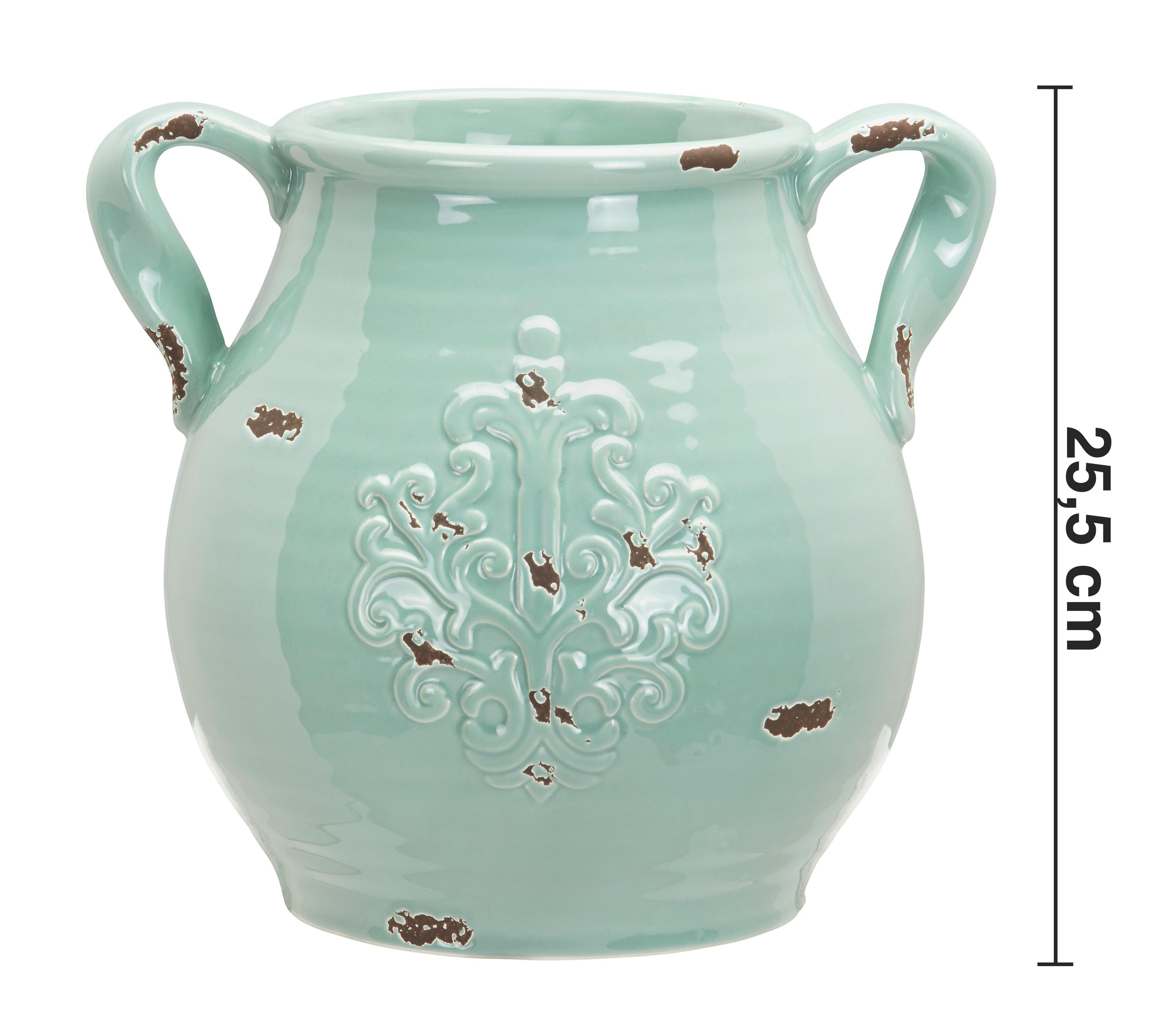 Dekokrug Nephele - Grün, MODERN, Keramik (28,5/24,5/25,5cm) - MÖMAX modern living