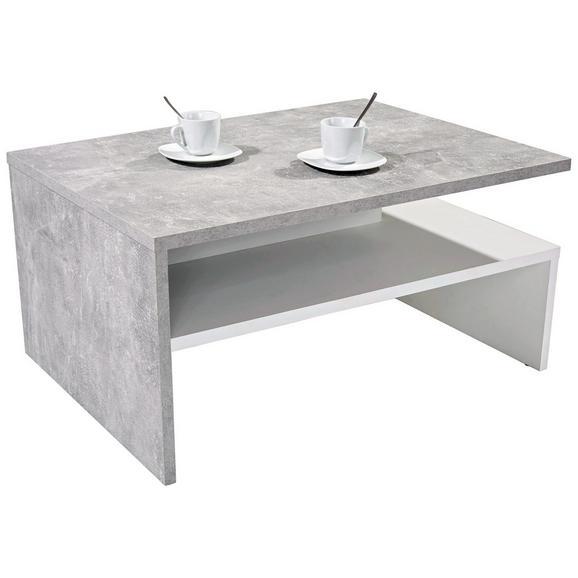 Klubska Miza Laura - siva/bela, Moderno, leseni material (90/42/60cm) - Mömax modern living