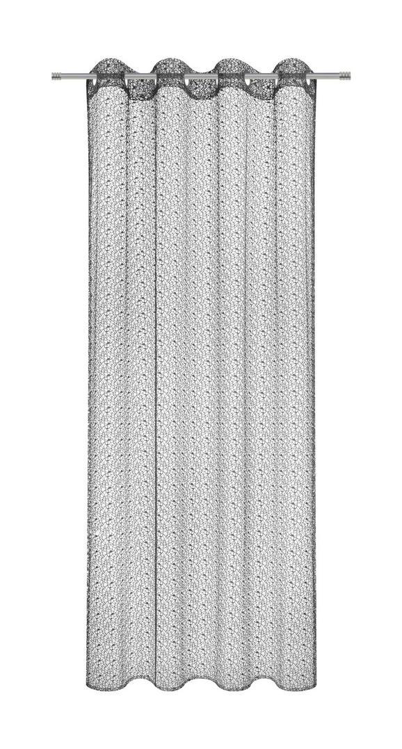Zavesa Z Obročki Astrid - črna, Moderno, tekstil (140/245cm) - Mömax modern living