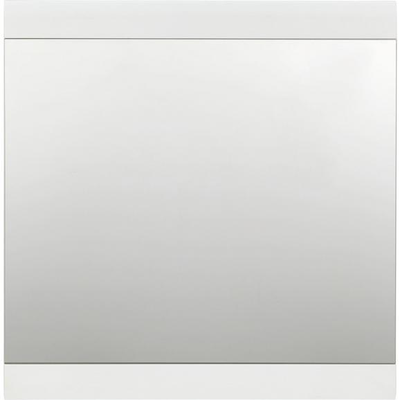 Ogledalo Funny - bela, Moderno, leseni material/les (84/86/2cm) - Premium Living