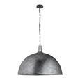Hängeleuchte XXL max. 60 Watt 'Ricardo' - Silberfarben, MODERN, Metall (70/130cm) - Bessagi Home