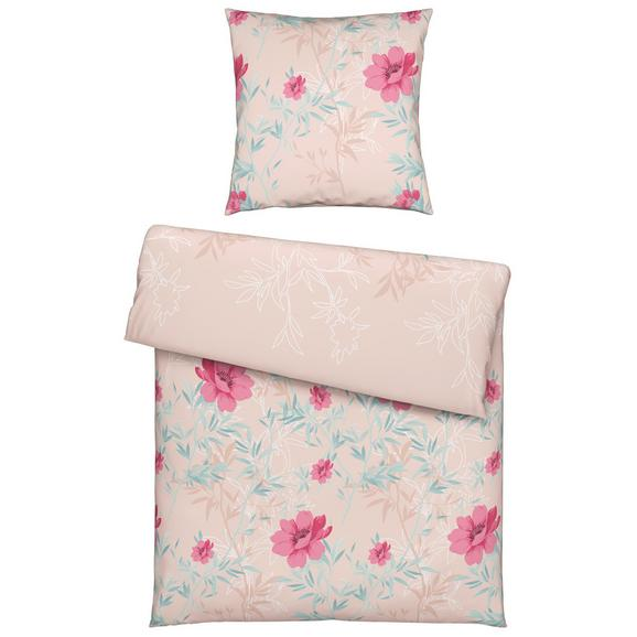 Bettwäsche Antonella ca. 135x200cm - Rosa, MODERN, Textil (135/200cm) - Premium Living